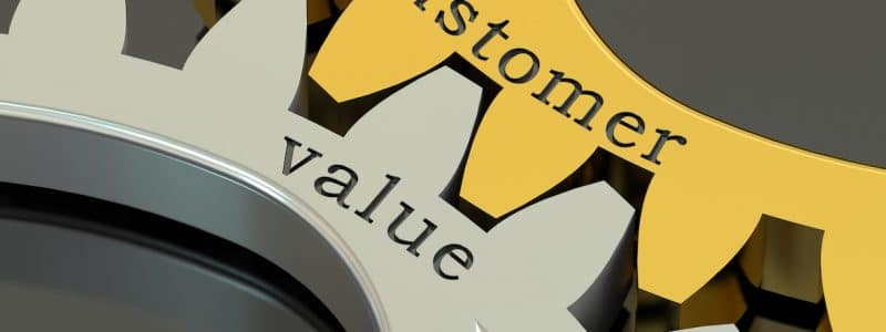 customer experience and business value concept
