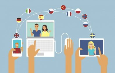 Multilingual online communication concept