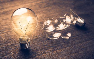 Lightbulb shattered