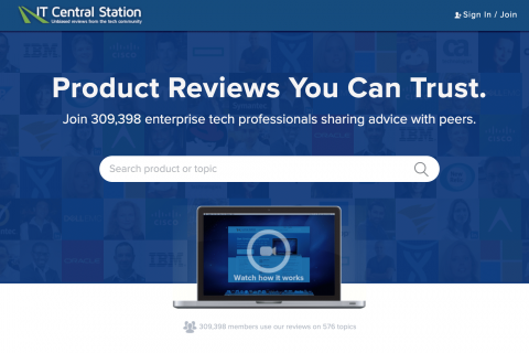 IT Central Station homepage